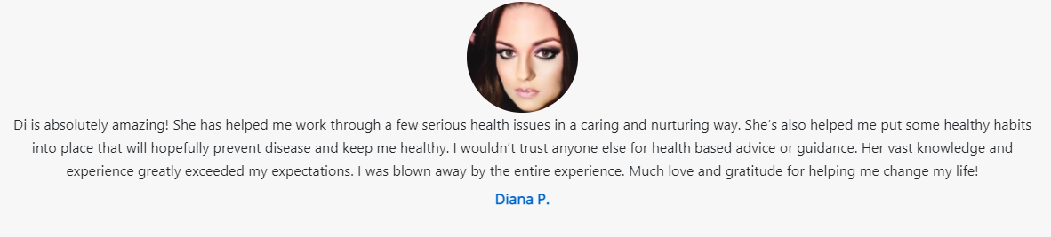 Diana P Screenshot Testimonial D Shalevski